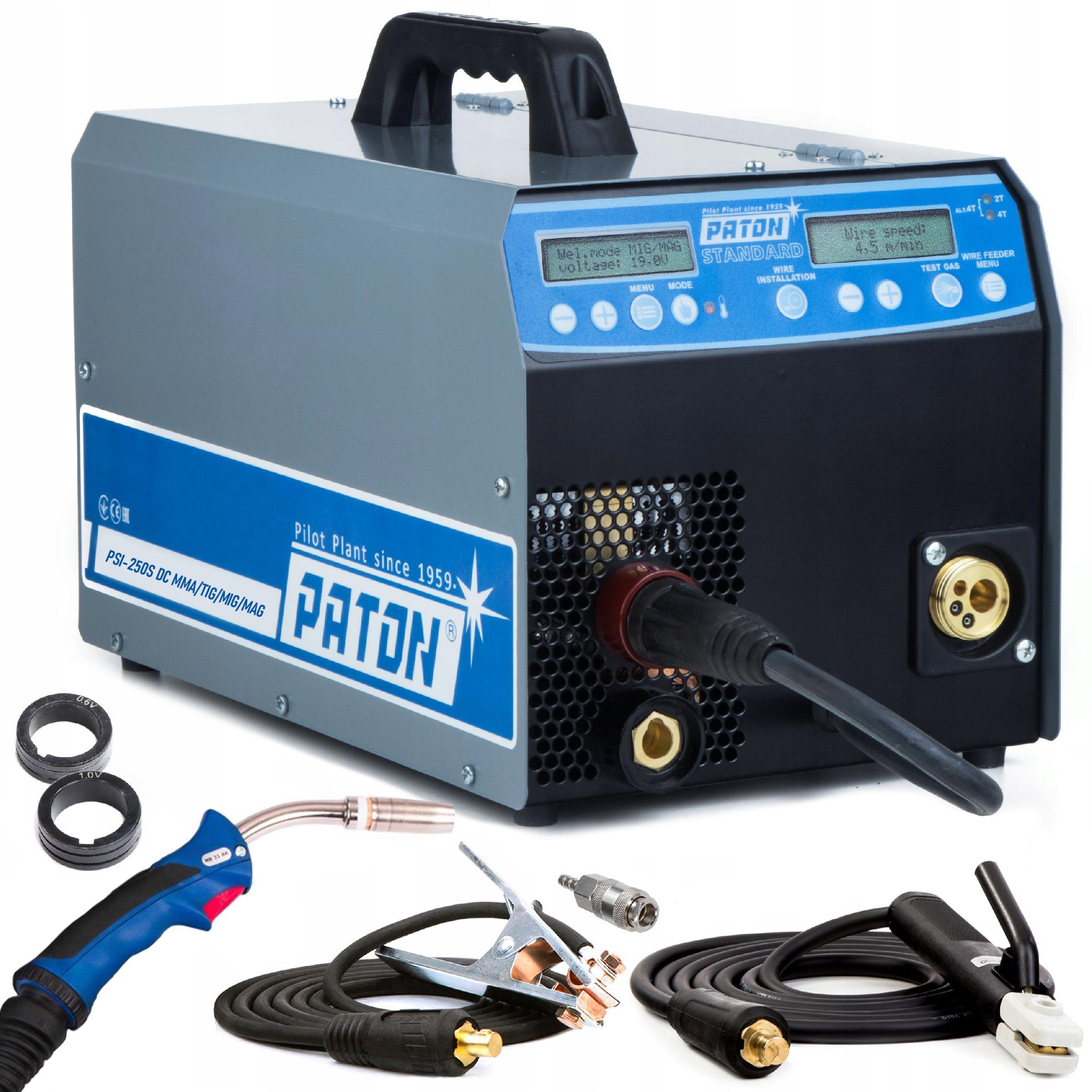 Svářečka PSI 250 STANDARD 230 V MIG/MAG MMA/TIG PULSE | PATON™